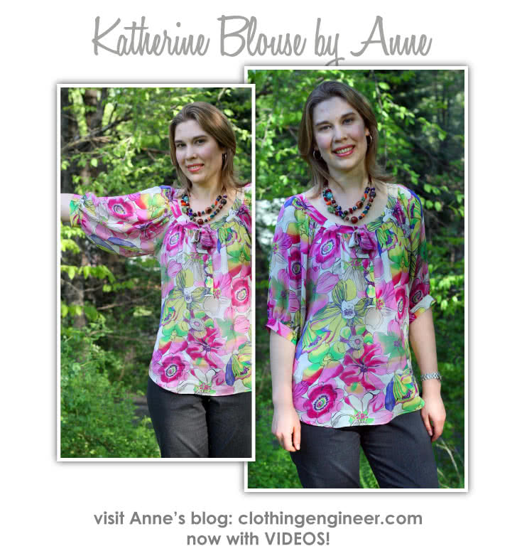 Katherine Blouse Sewing Pattern By Anne And Style Arc - Peasant blouse with elbow length leeve