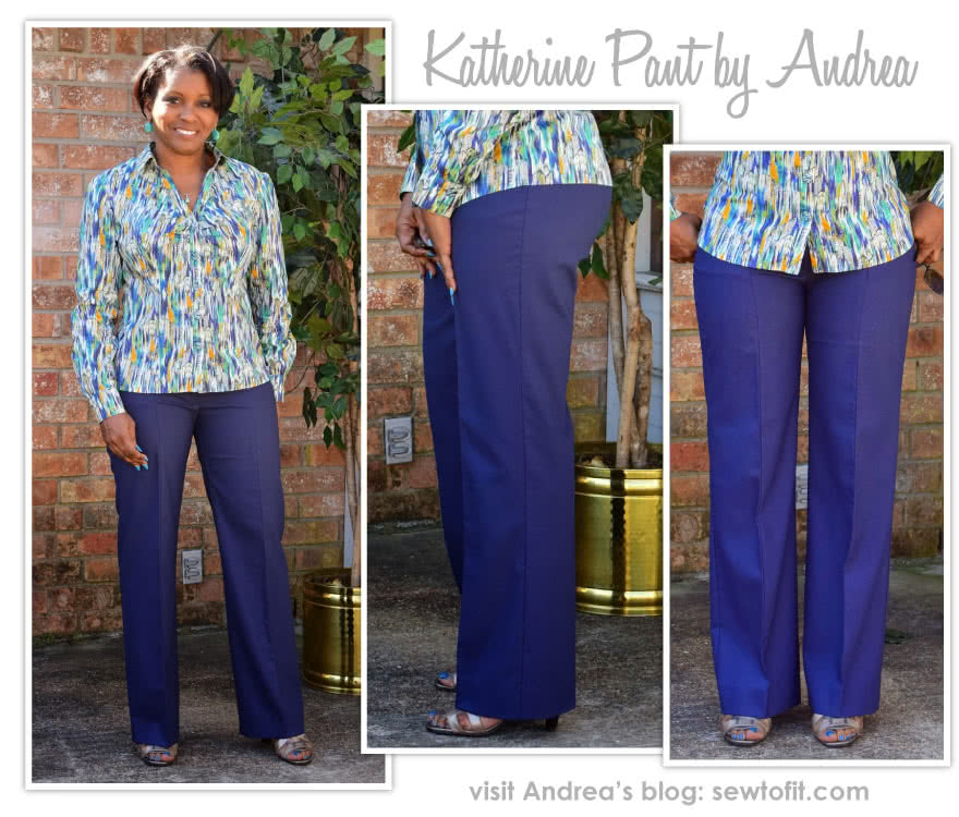 Katherine Pant Sewing Pattern By Andrea And Style Arc - Straight leg tailored pant with seam detail