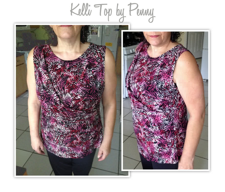 Kellie Jersey Dress / Top Sewing Pattern By Penny And Style Arc - A new twist on the drape dress/top