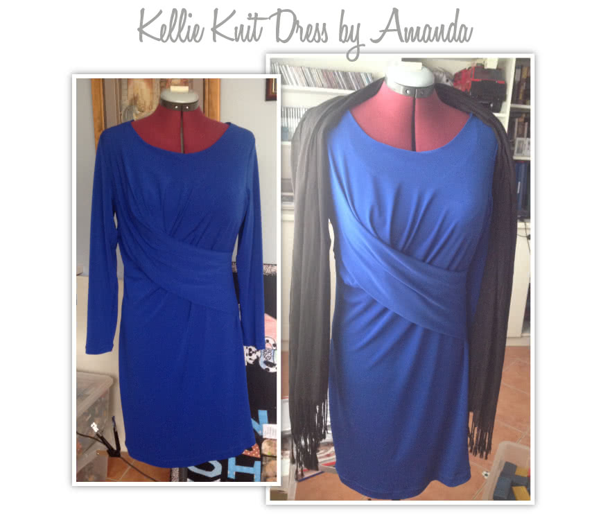 Kellie Jersey Dress / Top Sewing Pattern By Amanda And Style Arc - A new twist on the drape dress/top