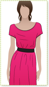 Kirsty Dress Sewing Pattern By Style Arc - Great easy slip on dress with elastic waist