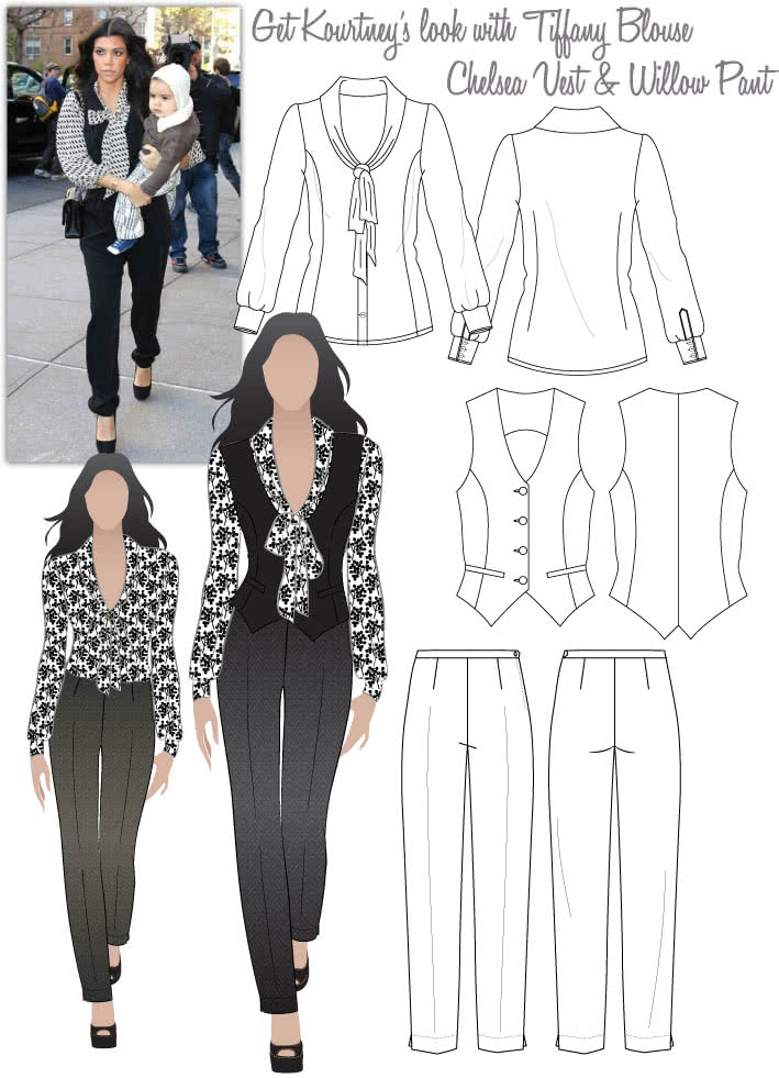 Kourtney's Smart Day Look Sewing Pattern Bundle By Style Arc
