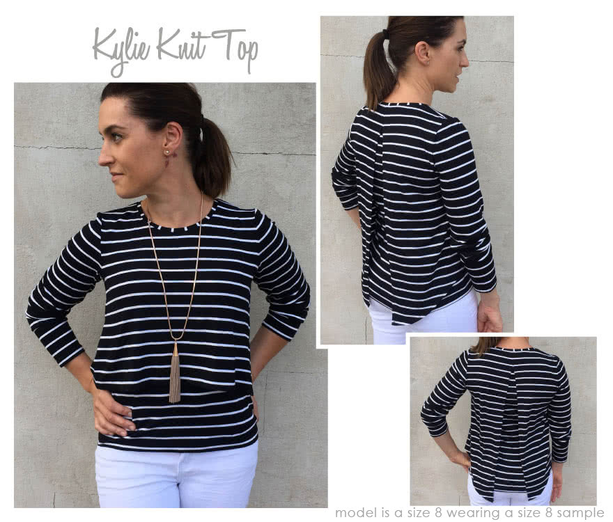 Kylie Knit Top Sewing Pattern By Style Arc