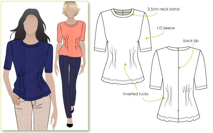 Lana Knit Peplum Top – Style Arc