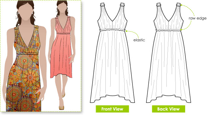 Lazy Daisy Sundress Sewing Pattern - Style Arc