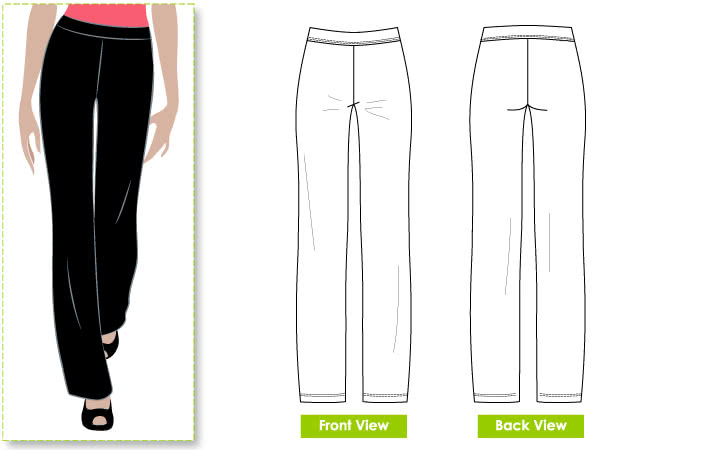 Linda Stretch Pant Sewing Pattern By Style Arc - Just wait till you try this one!! You'll love it!