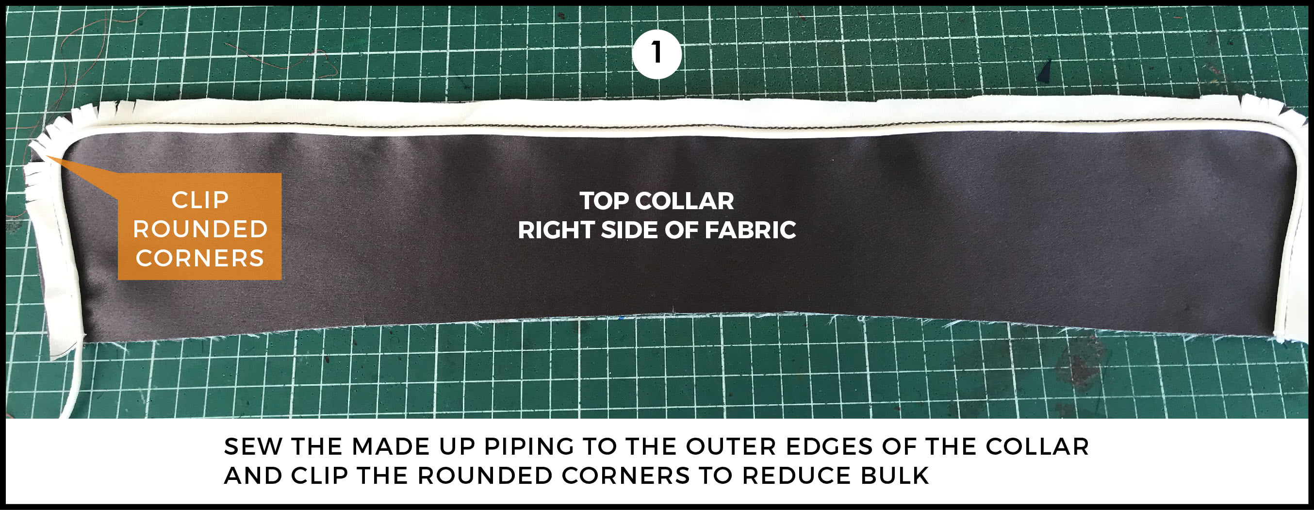 72b224b7538 This Style Arc sewing tutorial demonstrates how to sew piping to a collar  and rever (also called a lapel). In this tutorial you we have used a  women s ...