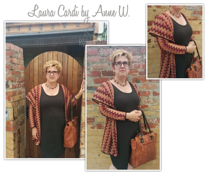 Laura Knit Cardi Sewing Pattern By Anne And Style Arc - Simple shawl collar cardi