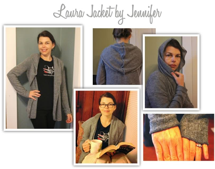 Laura Knit Cardi Sewing Pattern By Jenn And Style Arc - Simple shawl collar cardi