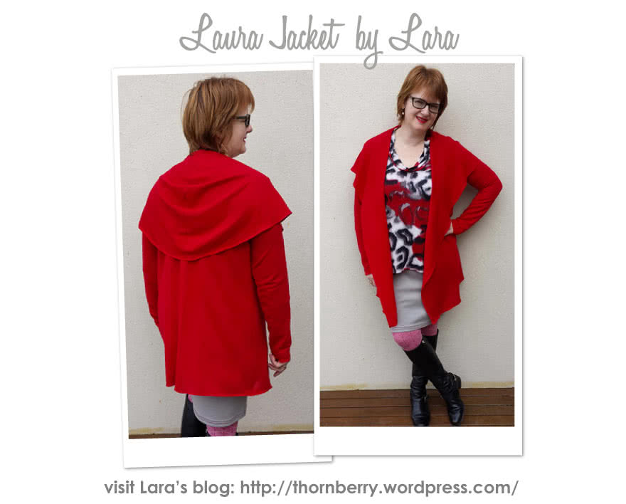 Laura Knit Cardi Sewing Pattern By Lara And Style Arc - Simple shawl collar cardi