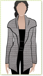 Laura Knit Cardi Sewing Pattern By Style Arc - Simple shawl collar cardi