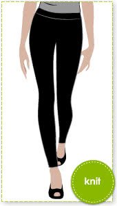 "Laura Knit Legging Sewing Pattern By Style Arc - a ""must have"" knit legging"