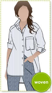 bc623d6d47ef2 AUD  16.00 · Lauren Boyfriend Shirt Sewing Pattern By Style Arc - Oversized  shirt with sleeve interest