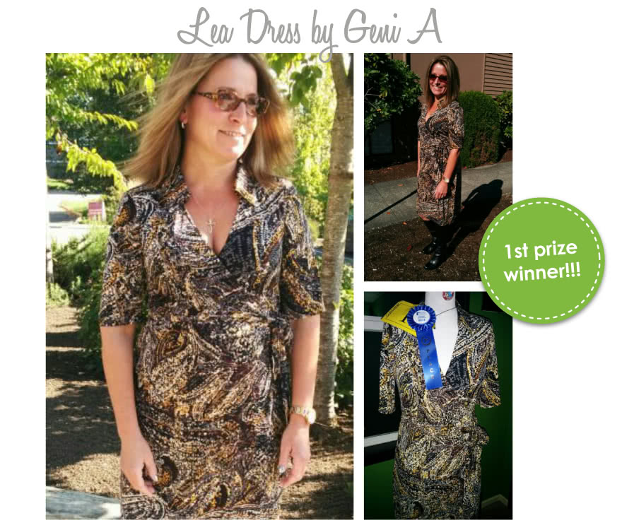 Lea Knit Wrap Dress Sewing Pattern By Geni And Style Arc - New wrap dress with collar and elbow length sleeve
