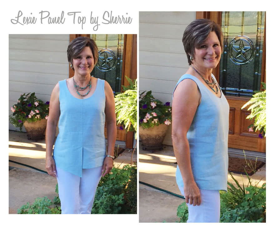 Lexie Panel Top Sewing Pattern By Sherrie And Style Arc - Casual top with detailed panelling