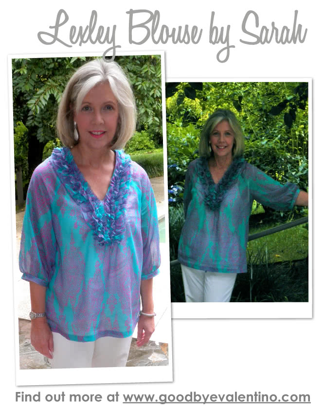 Lexley Blouse / Dress Sewing Pattern By Sarah And Style Arc - Beautiful tunic/ dress designed to suit all sizes