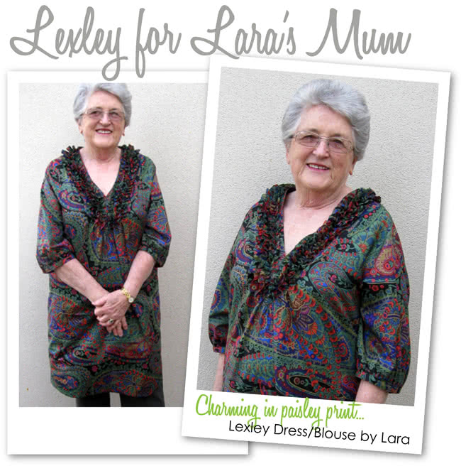 Lexley Blouse / Dress Sewing Pattern By Style Arc - Beautiful tunic/ dress designed to suit all sizes