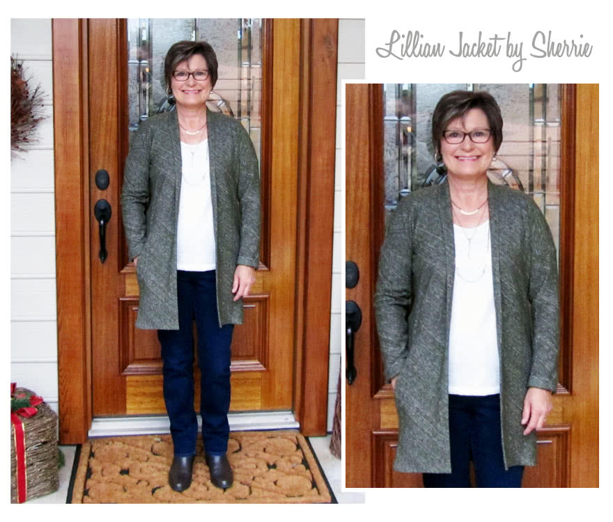 Lillian Knit Jacket Sewing Pattern By Sherrie And Style Arc - This knit jacket has a fabulous new engineered sleeve