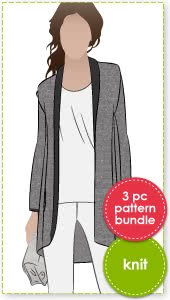 Lillian + Lucinda = Free Evie Sewing Pattern Bundle By Style Arc - Buy Lillian Jacket & Lucinda Pants & get Evie Top FREE.