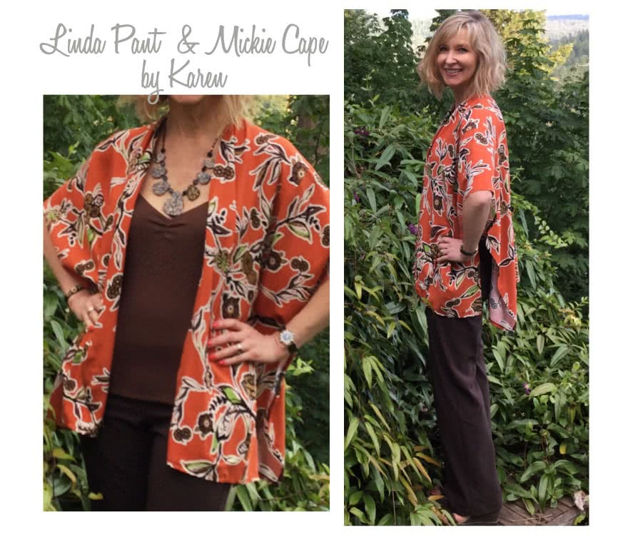 Mickie Cape Sewing Pattern By Karen And Style Arc - Simple but sophisticated cape