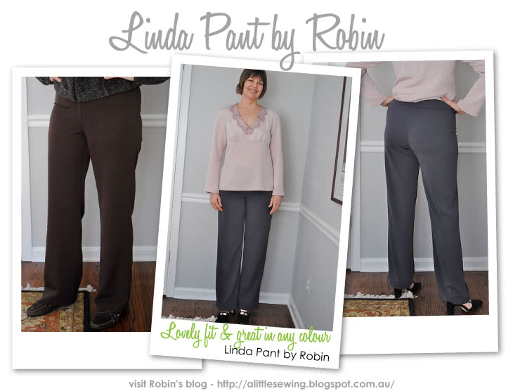 Linda Stretch Pant Sewing Pattern By Robin And Style Arc