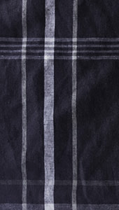Dark Ink Navy Check Linen