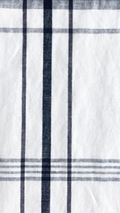 White Check Linen Fabric By Style Arc