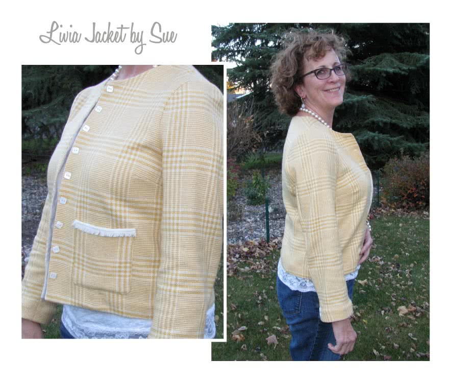 Livia Jacket Sewing Pattern By Sue And Style Arc - Classic jacket with pocket treatment