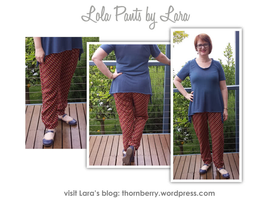 Lola Pant Sewing Pattern By Lara And Style Arc - Casual elastic waist pant with pockets & back hem detail