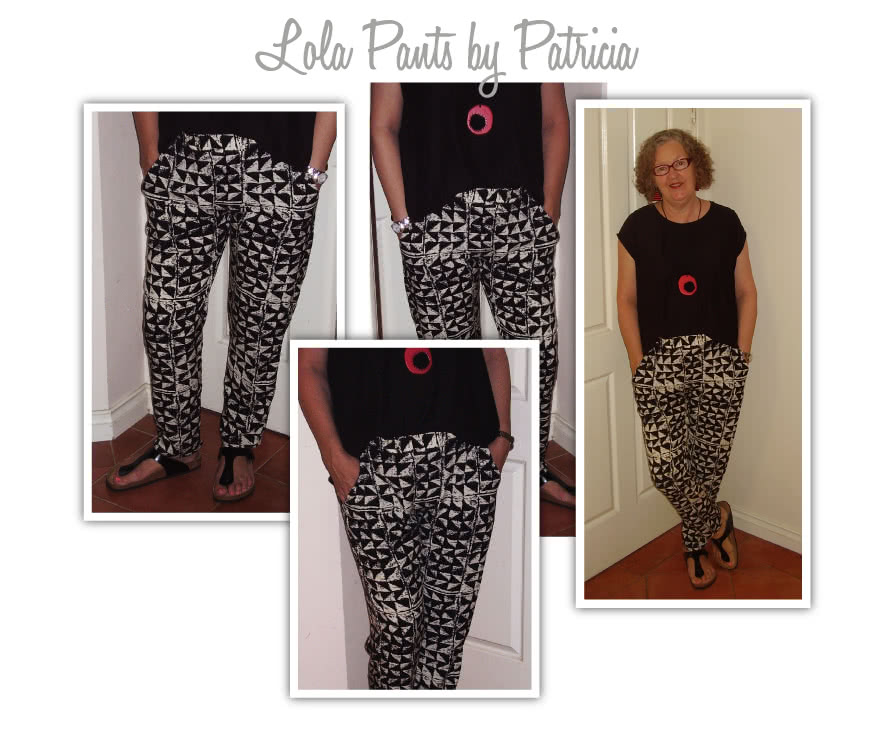 Lola Pant Sewing Pattern By Patricia And Style Arc - Casual elastic waist pant with pockets & back hem detail