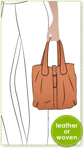 London Tote Bag Sewing Pattern By Style Arc - This is a versatile and useable tote with buckle closure