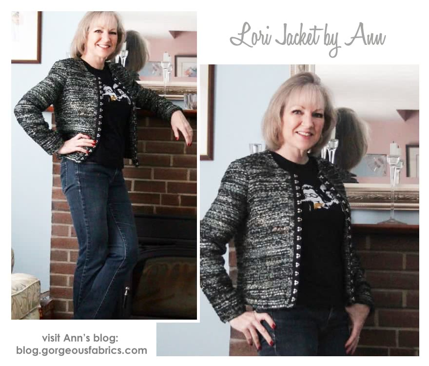 Lorie Jacket Sewing Pattern By Ann And Style Arc - Designer look without the complication!