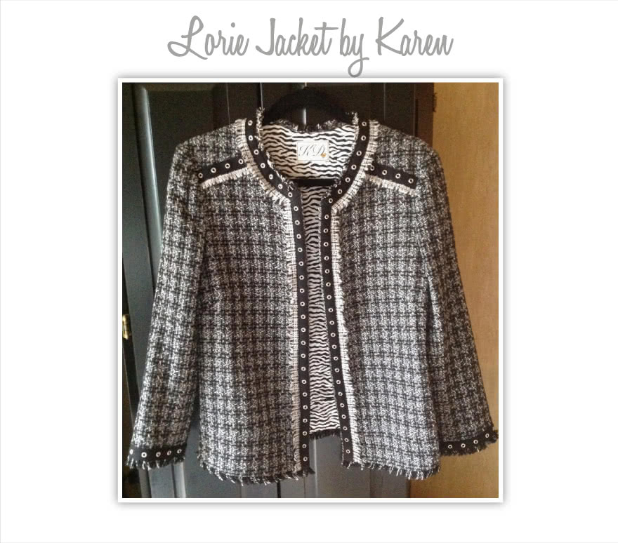 Lorie Jacket Sewing Pattern By Karen And Style Arc - Designer look without the complication!