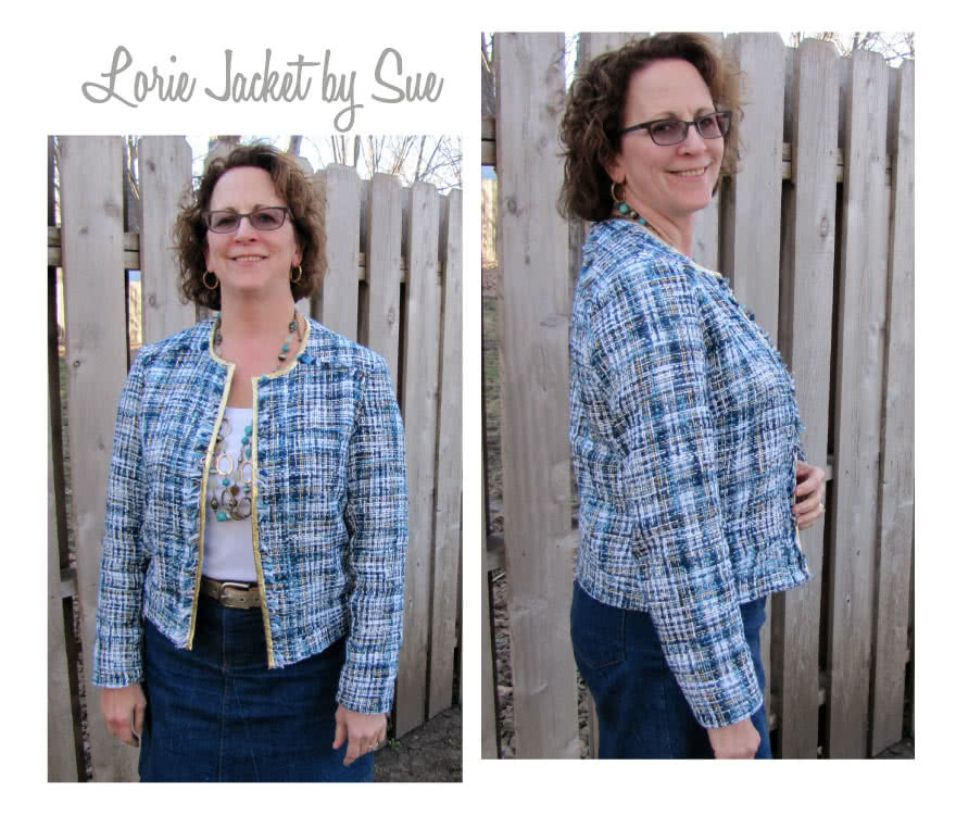 Lorie Jacket Sewing Pattern By Sue And Style Arc - Designer look without the complication!