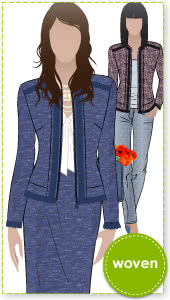 Lorie Jacket Sewing Pattern By Style Arc - Designer look without the complication!