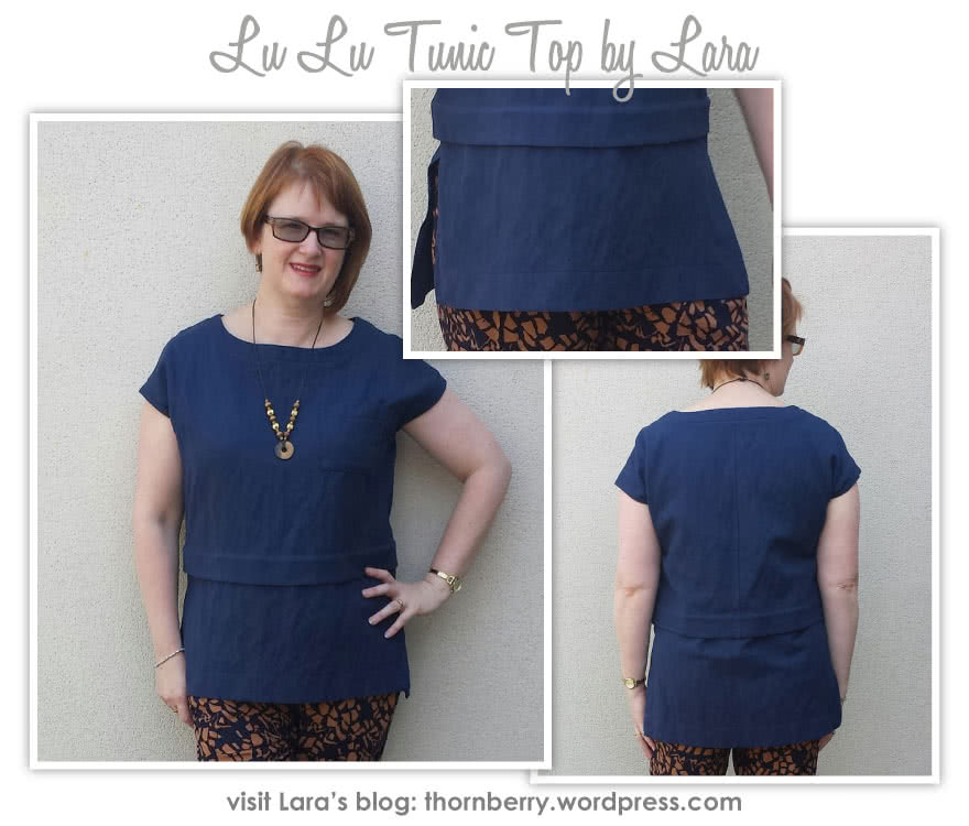 Lu Lu Tunic Top Sewing Pattern By Lara And Style Arc - Layered tunic length top made in woven