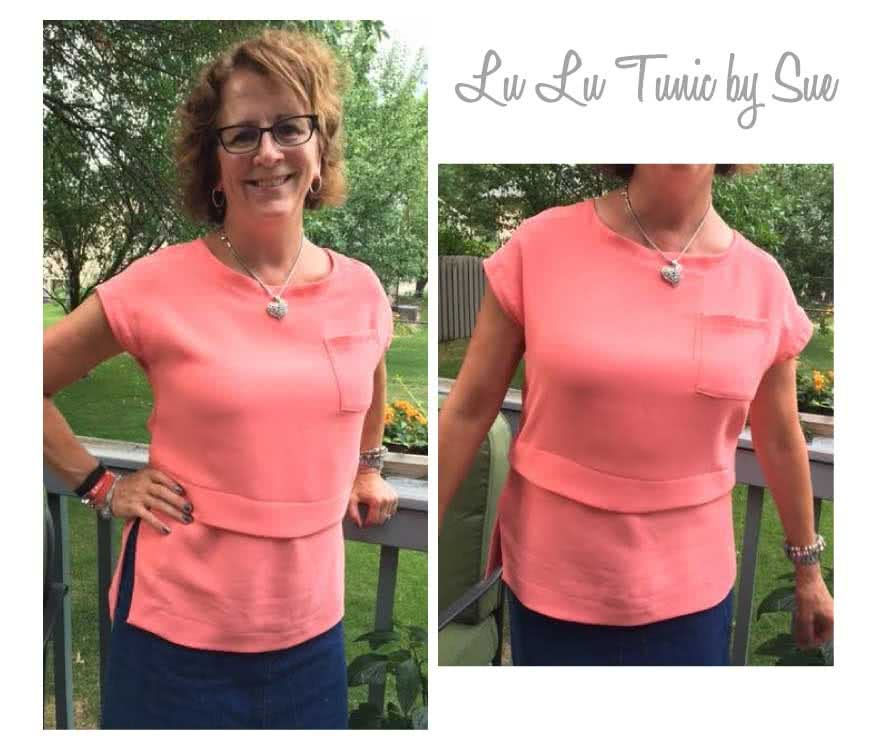 Lu Lu Tunic Top Sewing Pattern By Sue And Style Arc - Layered tunic length top made in woven