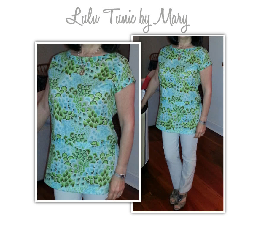 Lu Lu Tunic Top Sewing Pattern By Mary And Style Arc - Layered tunic length top made in woven