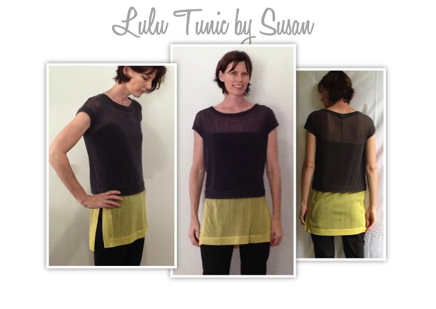 Lu Lu Tunic Top Sewing Pattern By Susan And Style Arc - Layered tunic length top made in woven