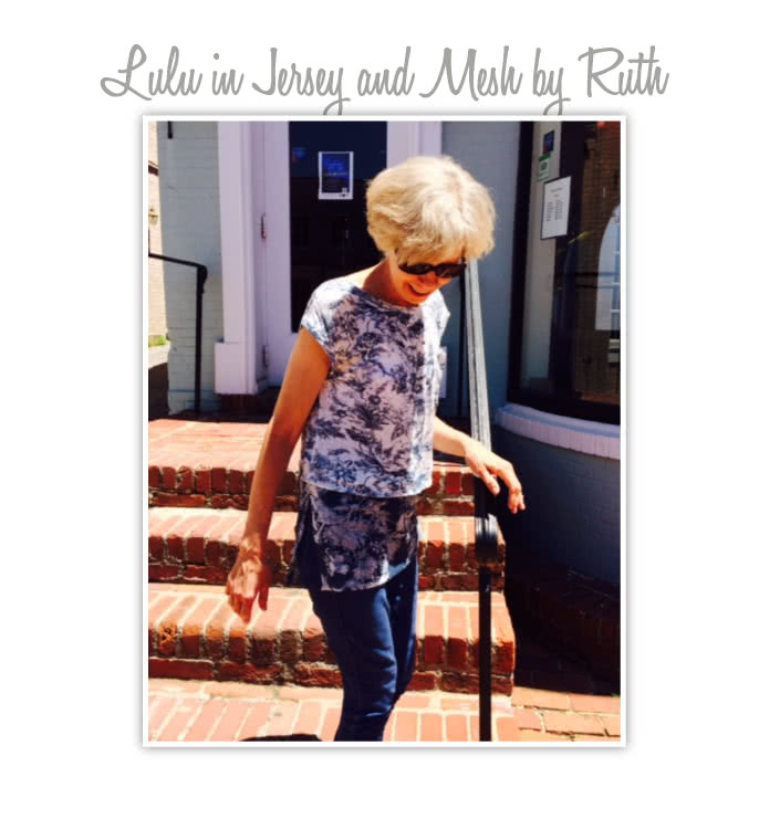 Lu Lu Tunic Top Sewing Pattern By Ruth And Style Arc - Layered tunic length top made in woven