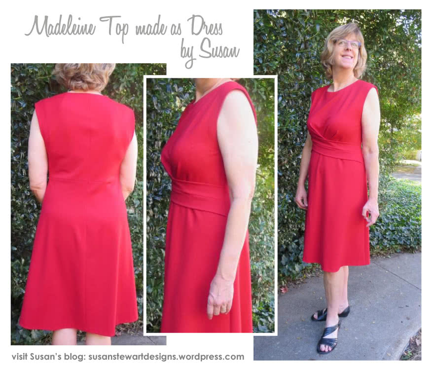Madeleine Ponte Top Sewing Pattern By Susan And Style Arc - Asymmetrical pleat front peplum top