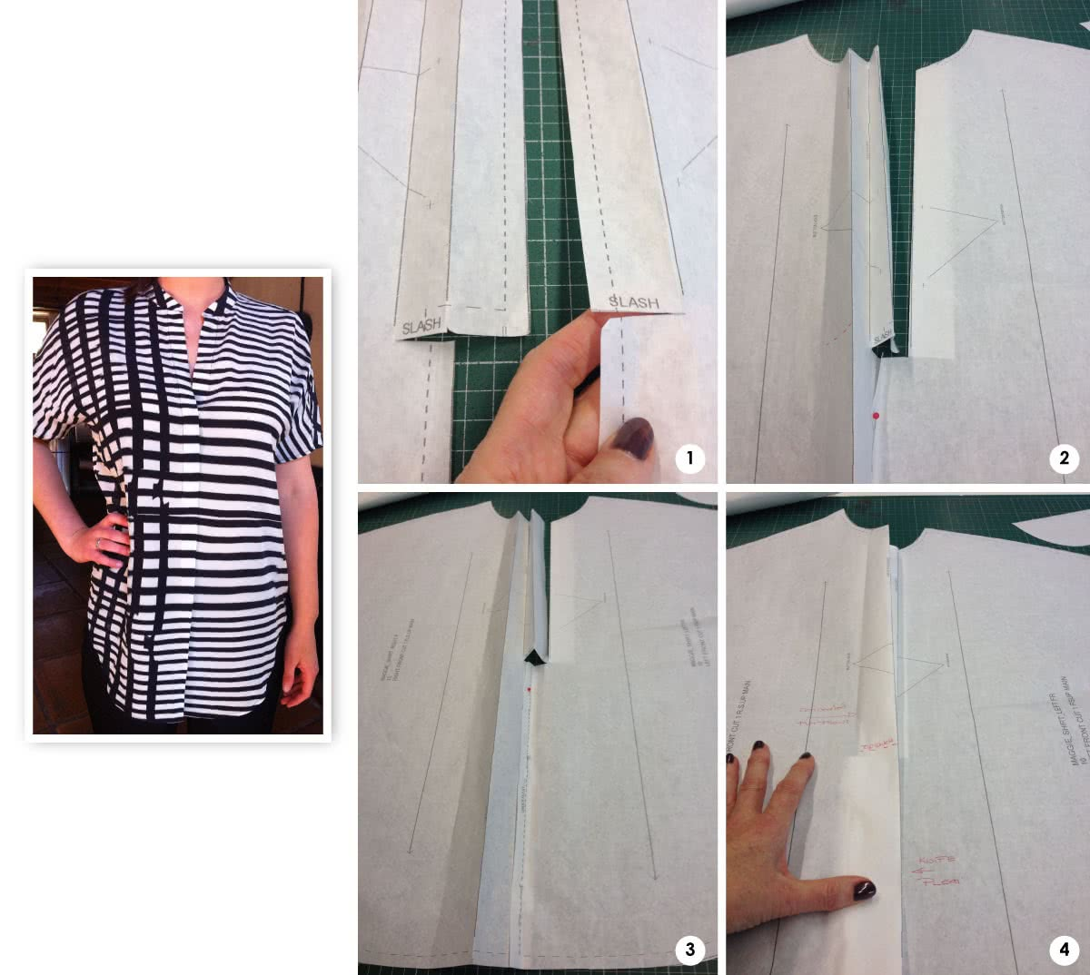 """Maggie Shirt Sewing Pattern By Style Arc - Sophisticate shirt with """"Magyar"""" sleeve"""
