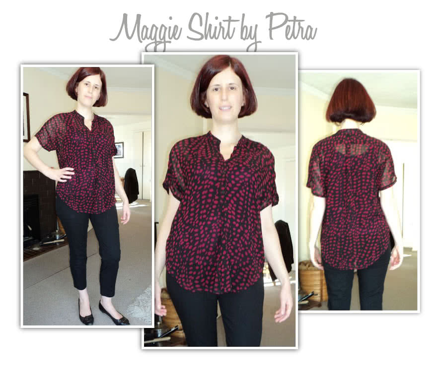 "Maggie Shirt Sewing Pattern By Petra And Style Arc - Sophisticate shirt with ""Magyar"" sleeve"