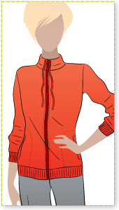 Maggie Jacket Sewing Pattern By Style Arc - Long line casual jacket - casual or sporty