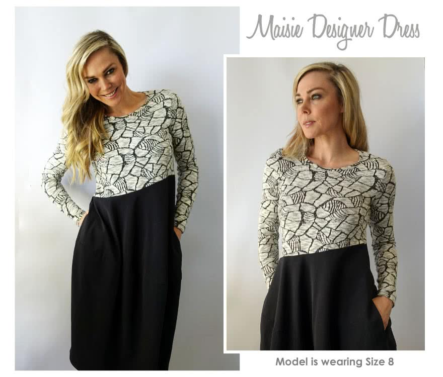 Maisie Designer Dress Sewing Pattern By Style Arc