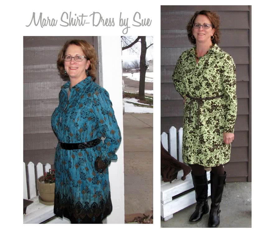 Mara Shirt Dress Sewing Pattern By Sue And Style Arc - The classic shirt dress featuring a fly front, pleat pockets and two piece sleeve