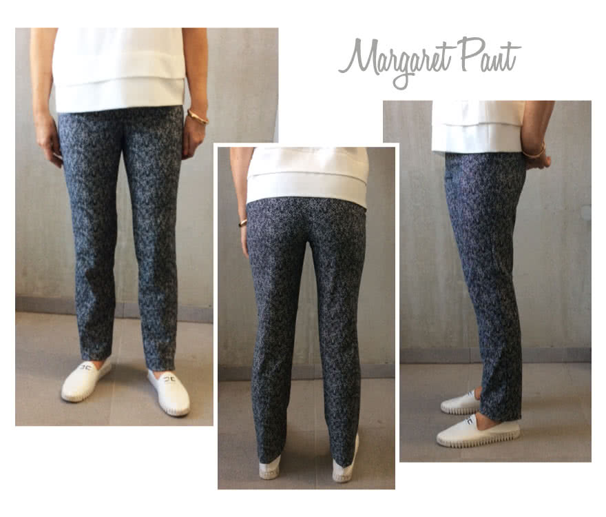 Margaret Stretch Woven Pant Sewing Pattern By Style Arc - New great pant block - this pant has an elastic waist!