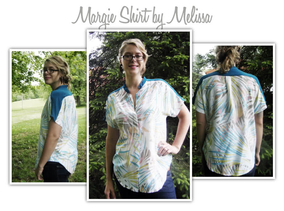 """Maggie Shirt Sewing Pattern By Melissa And Style Arc - Sophisticate shirt with """"Magyar"""" sleeve"""