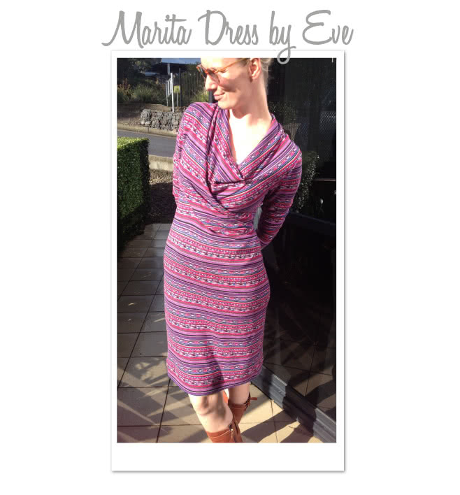 Marita Knit Dress Sewing Pattern By Eve And Style Arc - Great easy to wear knit dress