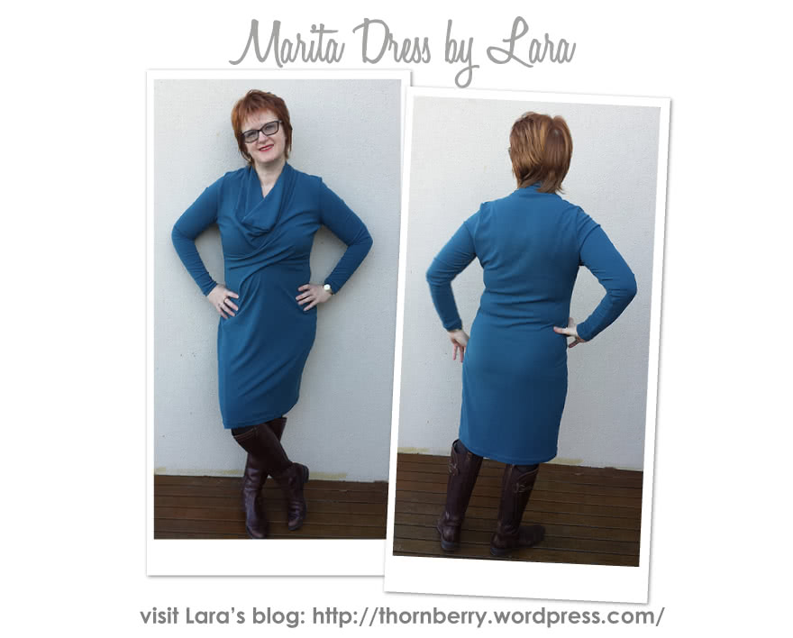 Marita Knit Dress Sewing Pattern By Lara And Style Arc